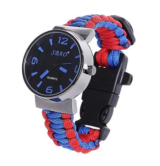 3 opinioni per ZENDY Paracord cerchio corda orologi bracciale in acciaio raschietto Firestarter