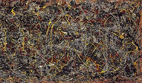 Jackson Pollock Number 5, 1948 - Original Abstract Canvas Paintings Hand Painted Reproduction Rolled - 120X70 cm (Approx. 48X28 inch) for Wall Decoration