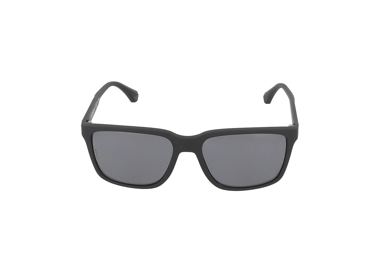 2bb17a87de8 Amazon.com  Emporio Armani EA4047 506381 Black Rubber Grey Polarized  Sunglasses   Emporio Armani  Shoes