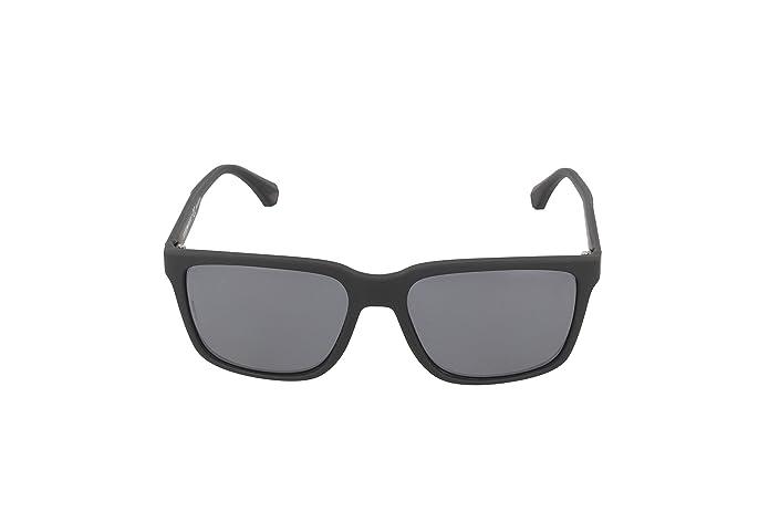 e0280a28b690 Amazon.com  Emporio Armani EA4047 506381 Black Rubber Grey Polarized  Sunglasses   Emporio Armani  Shoes