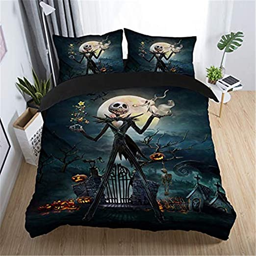 Amazon.com: NOOS Nightmare Before Christmas Bedding Set 3D Skull