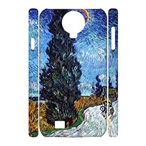 J-LV-F Cell phone Cases Van Gogh Hard 3D Case For Samsung Galaxy S4 i9500