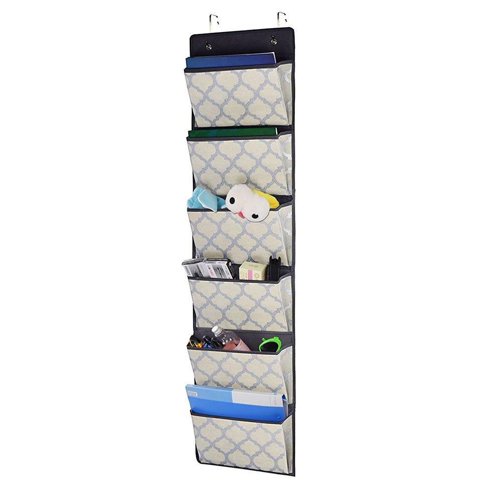 Sobre la puerta organizador suministros de oficina de archivos de almacenamiento para colgar revista soporte pared pantalla plana carpeta tela plegable ...