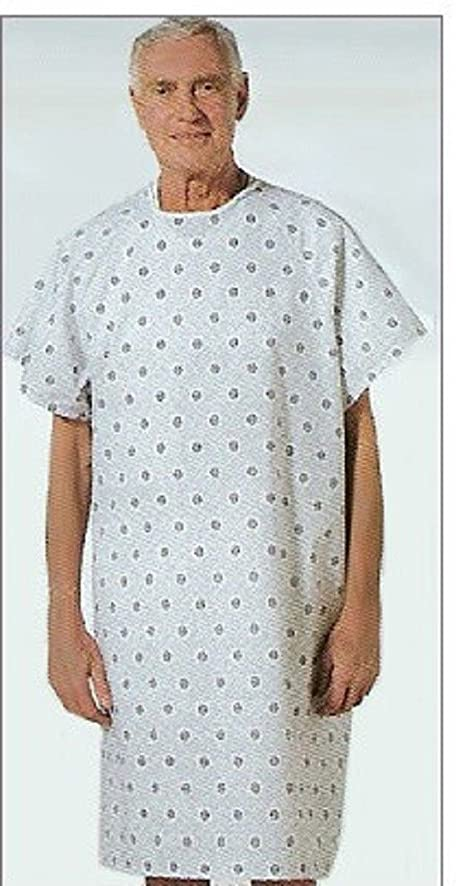 Amazon.com: 6 New Hospital Patient Gown Medical Exam Gowns Economy ...