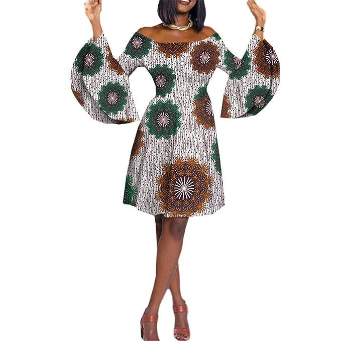 Amazon.com: Vestido casual para mujer con estampado de ...