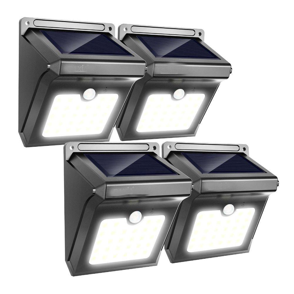 4 x 28 LEDソーラーライトモーションセンサーワイヤレス防水セキュリティガーデンランプ B079Q9WMNL