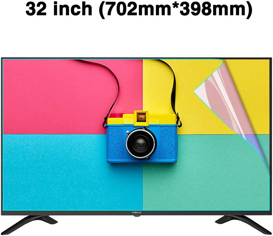 LED CUUYQ 32 Inches TV Screen Protector Anti-Blue Light Ultra-Clear Protector Film Non-Glare Anti-Scratch Eye Protection for LCD OLED /& QLED 4K HDTV,A
