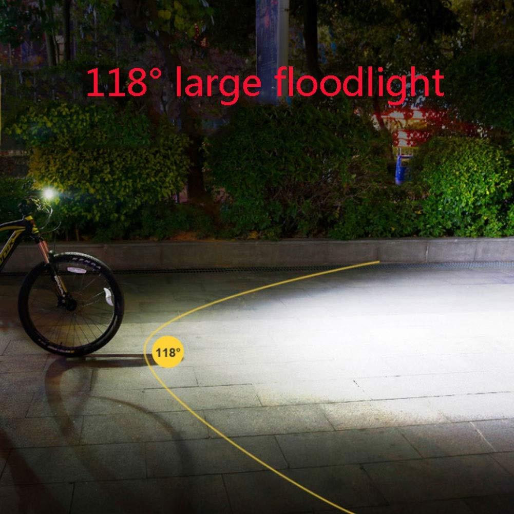 RGZJ Linterna para Bicicleta con luz de Noche y luz Brillante ...