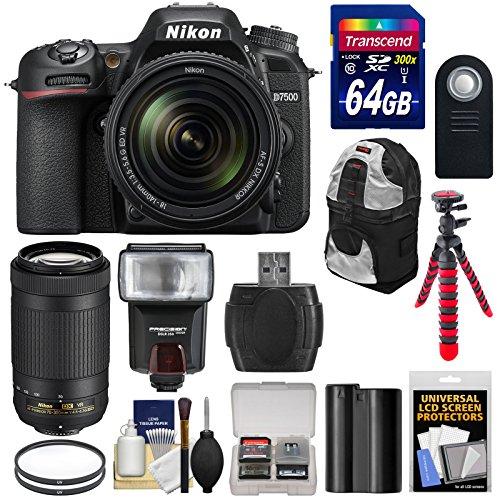 nikon-d7500-wi-fi-4k-digital-slr-camera-with-18-140mm-vr-70-300mm-vr-dx-af-p-lens-64gb-battery-backp