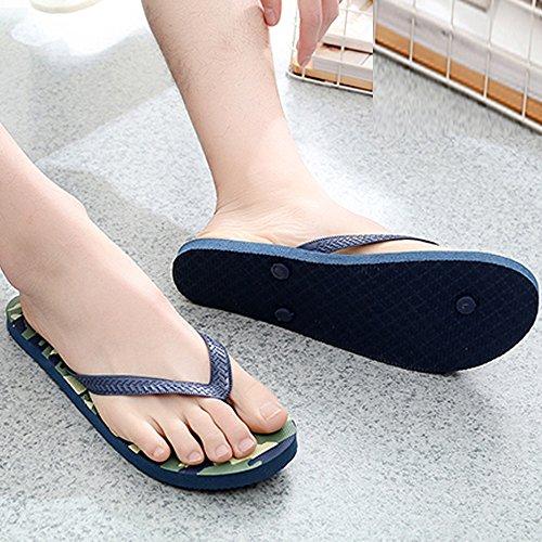 Hombres Zapatillas De Deslizamiento Sandalias Anti Camuflaje Zapatos Playa ALIKEEYVerano Azul Cielo BfwqZFdq