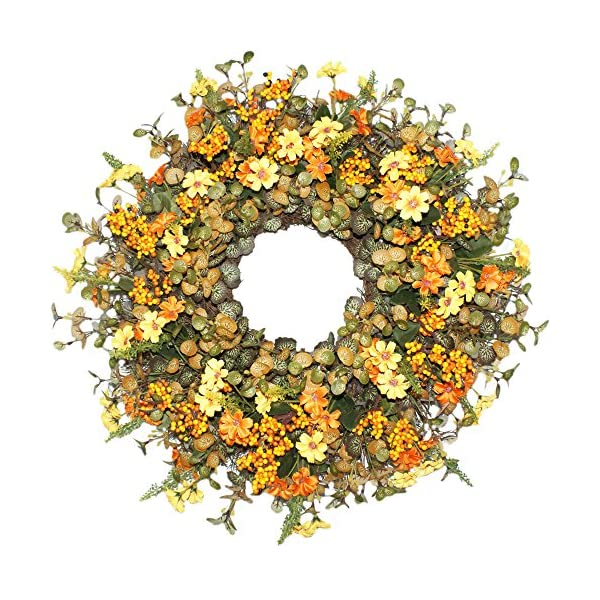 Emlyn-Silk-Spring-Door-Wreath-20-InchBeautiful-Handcrafted-Mix-Flowers-Front-Porch-Decoration
