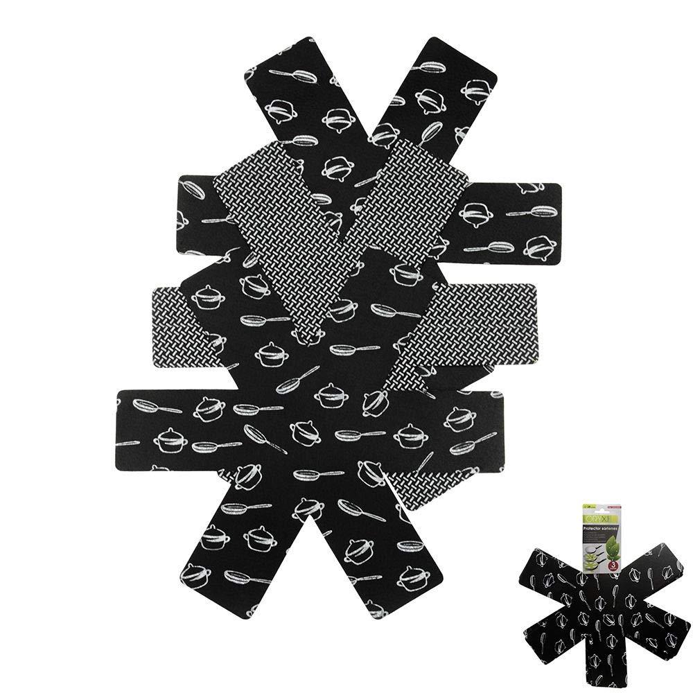 ORYX Protector Sartenes, Fieltro, Negro, 2x38x38 cm, 3 Unidades: Amazon.es: Hogar
