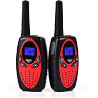 Upgrow Talkie Walkie, RT-628 1 paire Kids Talkie-Walkie Rechargeable longue portee 3 km Interphone cadeau de Noël Jouet pour garçon / fille de 4-12 ans (Rouge)