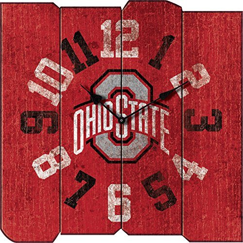 Imperial Officially Licensed NCAA Merchandise: Vintage Square Clock, Ohio State Buckeyes