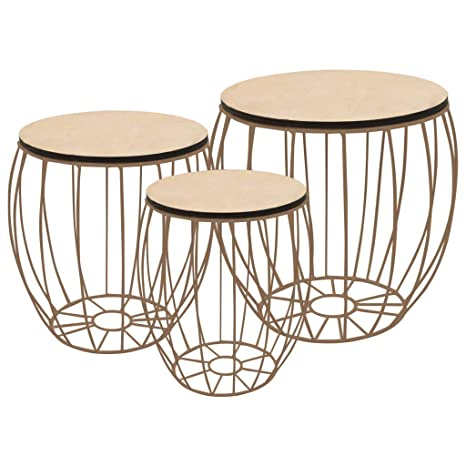Festnight Set Of 3 Industrial Nesting Tables Coffee Table Set Wood Side Tables End Tables Couch Tables Storage Basket Coffee Tables Side Tables For