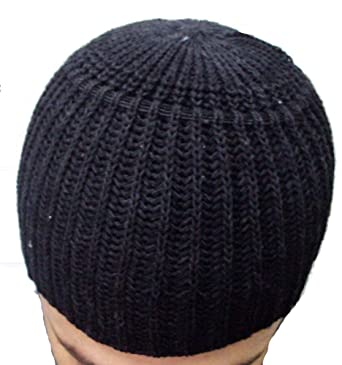 4e7ecf1234f22 Wool Kufi koofi Kofi Hat Topi Egyptian Skull Cap Beanie Men Islamic Muslim  (Black)