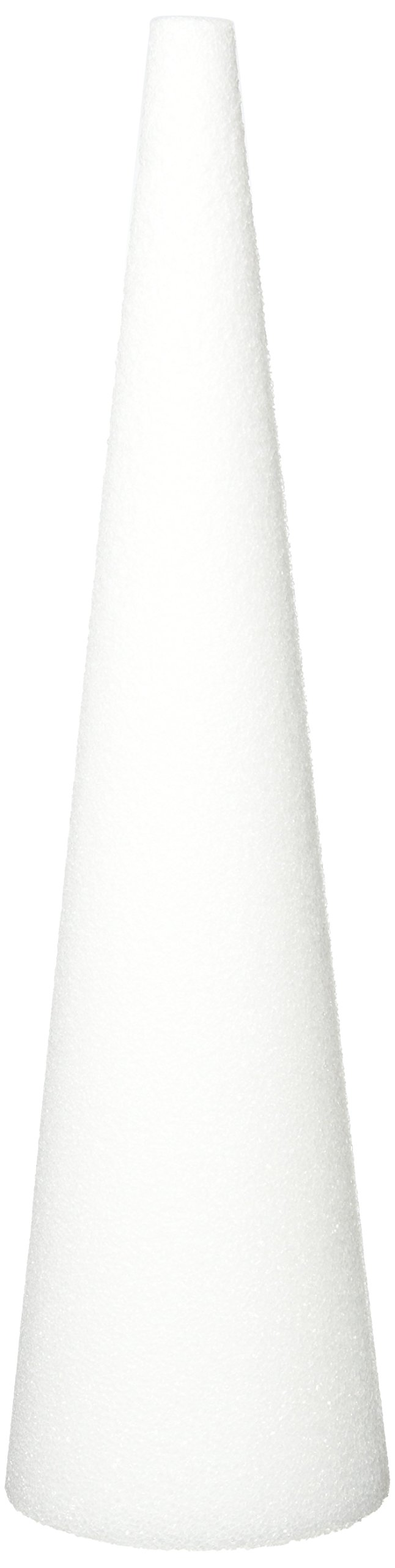 Floracraft FLOC185WB Cone White Styrofoam, 18'' by 5''