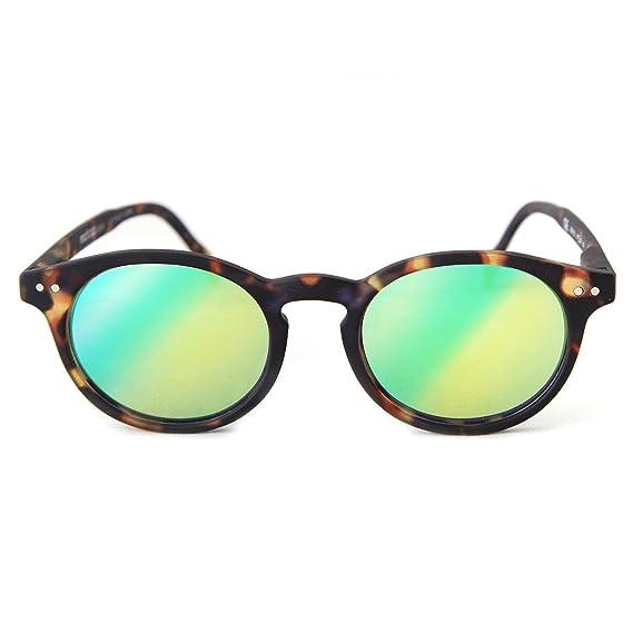 bons plans sur la mode haut de gamme authentique plus tard Lunettes de soleil vintage effet miroir Read Loop Sunrise ...