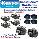 Kasco Marine Robust-Aire Aquatic Aeration System RA4 - For Ponds to 8.0 Surface Acres, 120 Volts, Includes Base Cabinet Mount