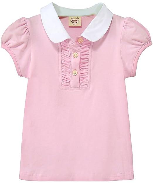 EOZY-Polo T-Shirt Bimba Bambina Cotone Maglietta a Manica Corta Cotone  Misti  Amazon.it  Abbigliamento a27662a09cb