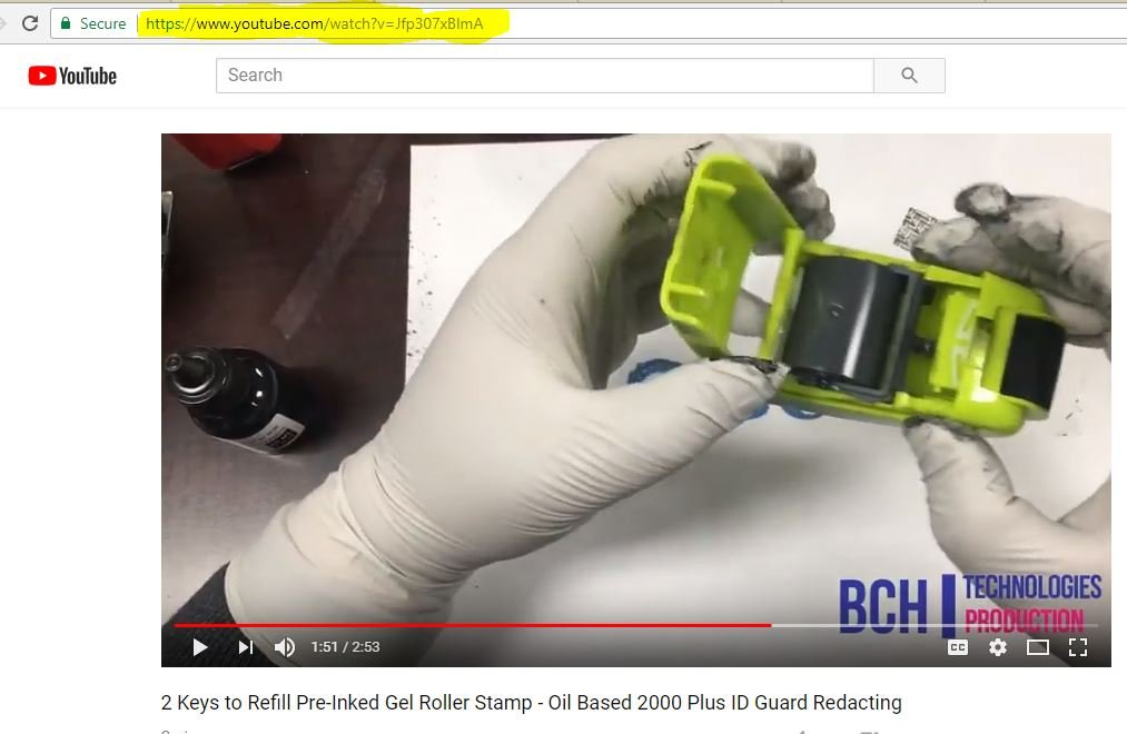 Black Stamp Refill Ink by BCH - Oil-Based 1 oz Bottle for Roller Stamp or Pre-Inked Rubber Gel Pads - 30ml by BCH (Image #5)