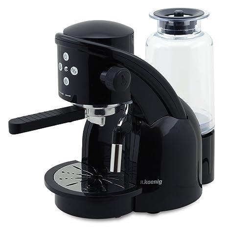 H.Koenig XPS15 Black - Máquina de café espresso, 1350 W, 15 bar