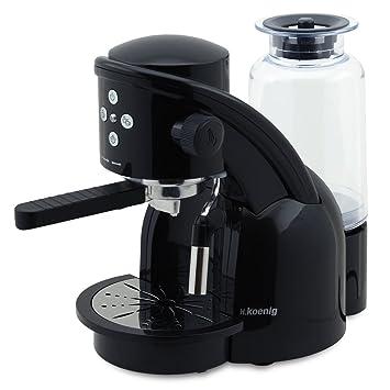 H.Koenig XPS15 Máquina de café Expresso, 1350W, 15 Bar, Color Negro