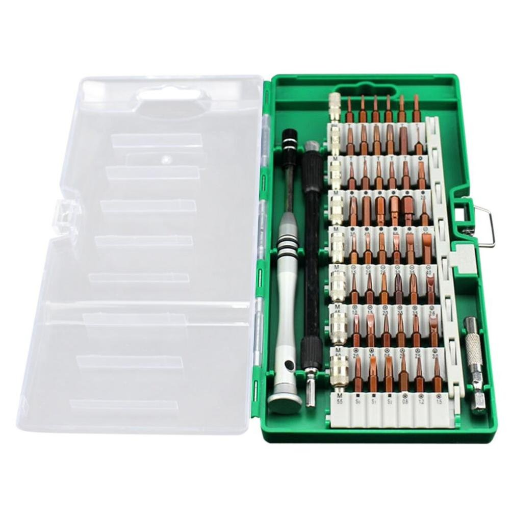 Oldeagle 60 in 1 Precision Professional Portable Screwdriver Tool Kit Magnetic Set For Cell Phone Tablet Repair (Green)