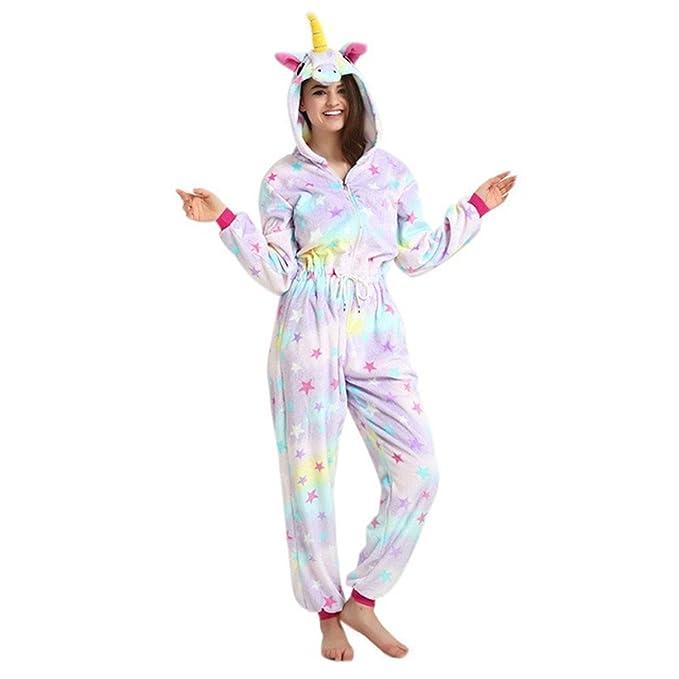 MJTP Unicornio Pijama Unicornio Albornoces Navidad Carnaval Fiesta Cosplay Unicornio Disfraces (Estrella, S)