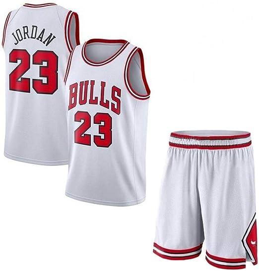 CHXY NBA Camiseta De Baloncesto para Hombre Michael Jordan # 23 Bulls De La NBA, Fans Sports Swingman Jersey Camisetas Sin Mangas Y Pantalones Cortos,White-S: Amazon.es: Hogar