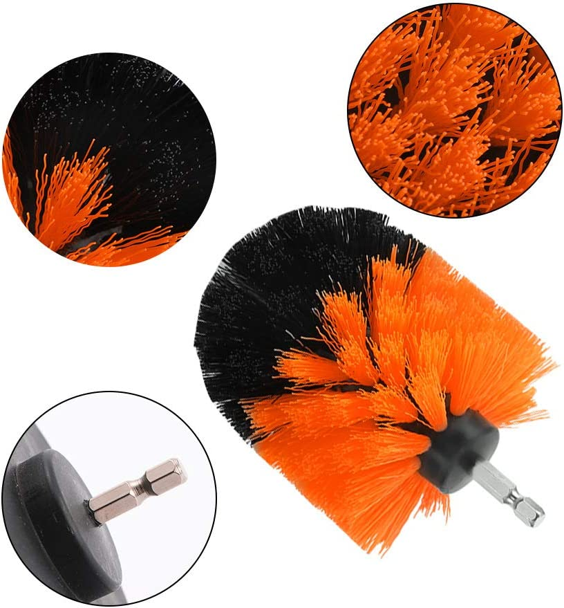 Yellow Vvciic Drill Brush Set Drill Powered Cleaning Brush Kit Great for Cleaning Bathtub Tile Grout 3PACK