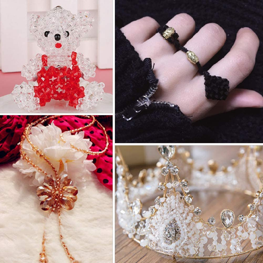 Hole: 0.5mm; about 200 Pcs//strand 16.5 Faceted Clear NBEADS 10 Strands Glass Beads AB Color Plated 2x3mm Bicone