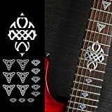 Emblem 12th Fret Markers Set In Metallic Inlay Sticker Decal For Guitar For Guitar - Celtic Knot Triangle