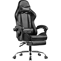 GTPLAYER Gaming Chair with Footrest Ergonomic Massage Office Chair Adjustable Swivel Leather High Back Computer Desk…
