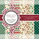 Gina K. Designs 6 X 6 Patterned Paper Pack - Merry Little Christmas