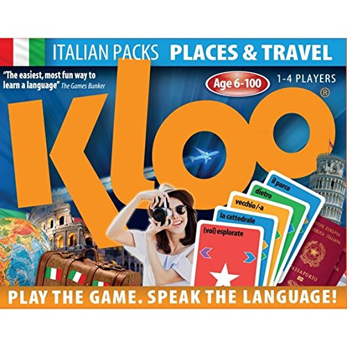 KLOO Learn to Speak Italian Games - Places and Travel - Pack 2 (Double Deck) KLOO Games Places & Travel