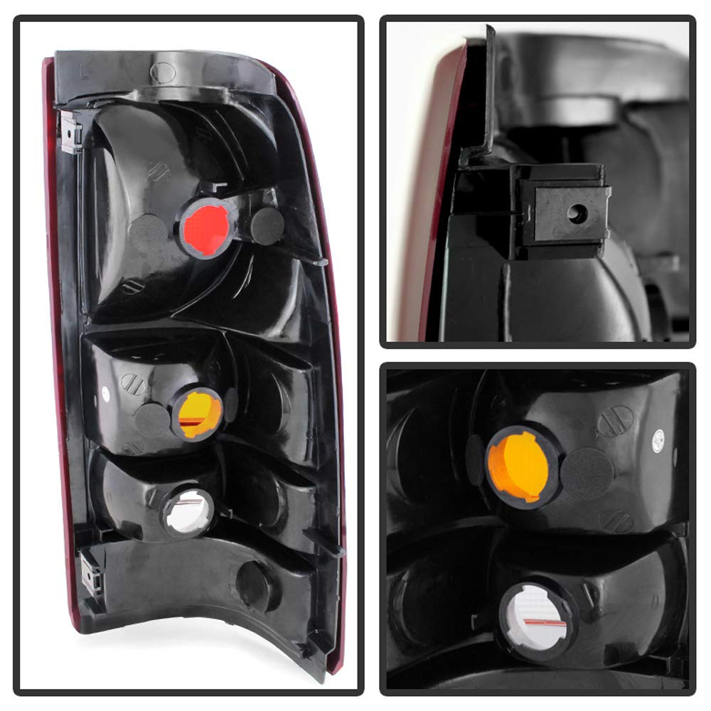 For 1999-2002 Chevy Silverado 1999-2006 GMC Sierra Replacement Tail Lights Lamps Set ACANII