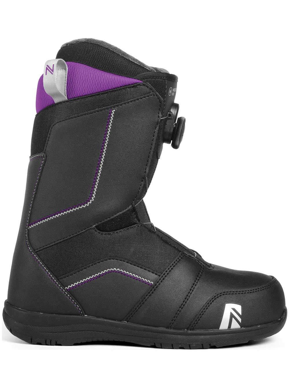 18-19 2019 ナイデッカー マヤボア スノーボード ブーツ NIDECKER MAYA BOA 黒 レディース 女性用 スノボ 靴_24.0cm/7