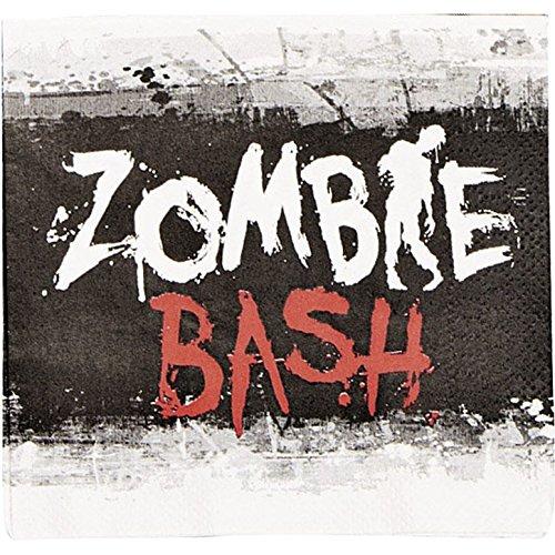Fun Express Zombie Bash Beverage Napkins