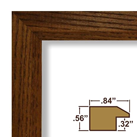23x32 poster frame real wood grain 84 wide rich brown - Wood Poster Frame