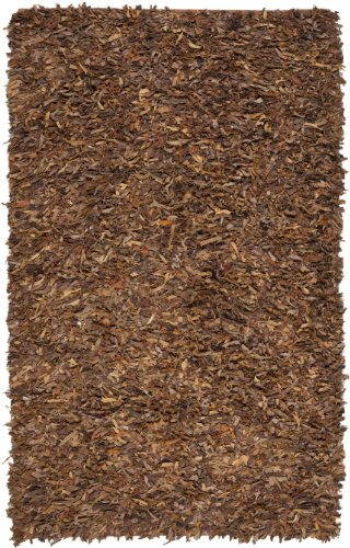 Knotted Leather (Safavieh Leather Shag Collection LSG511B Hand Woven Saddle Leather Area Rug (2'3