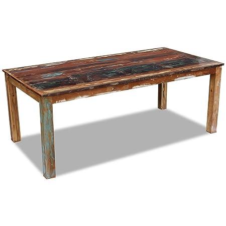 Festnight Retro-Stil Esstisch Holz Tisch Esszimmertisch ...