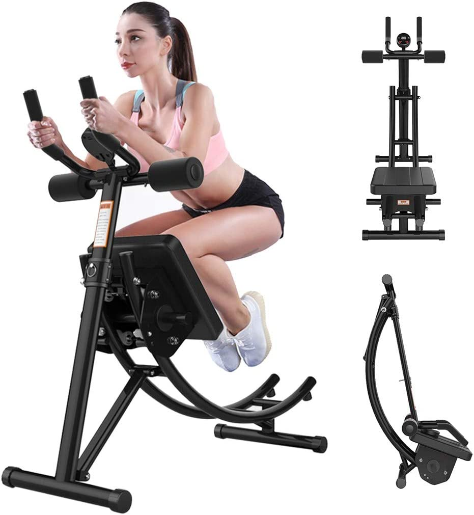 L-MIN Abdominal Training, Roller Glider Fitness Equipment, Beauty Waist Machine ab Machines for Home ab/core Workout