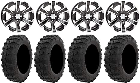 ITP SS312 Black ATV Wheel Rear 14x8 4//137 - 14SS722 12mm 5+3