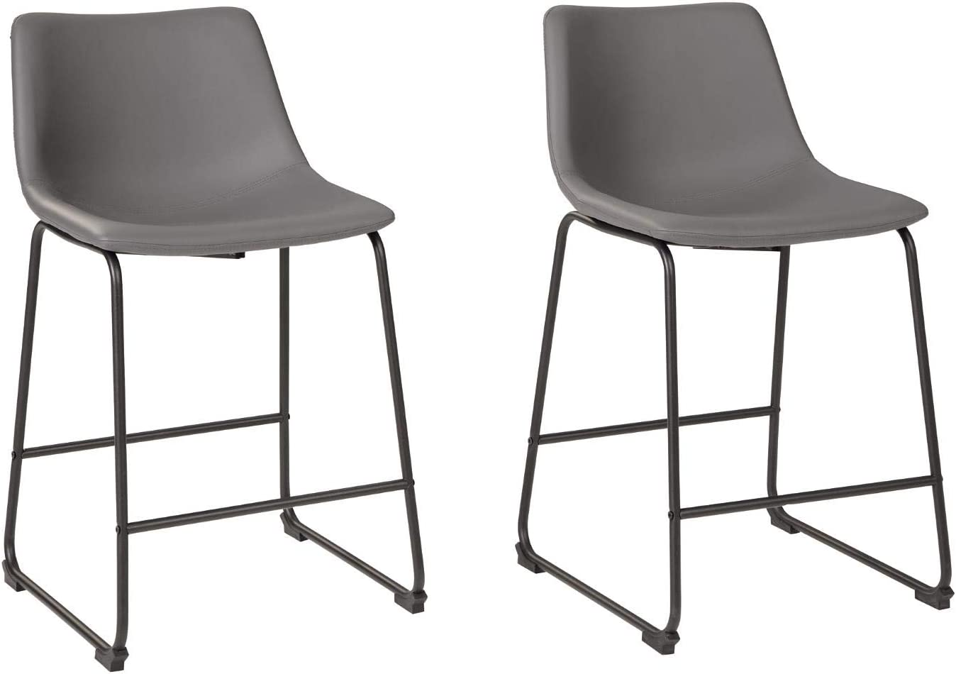 Signature Design by Ashley Centiar Counter Height Bar Stool, Gray