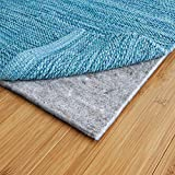 RUGPADUSA, 8'x10', 1/8' Thick, Basics Felt + Rubber Rug Pad, Non-Slip Rug Pad, Adds Cushion and Floor Protection Under Rugs, Safe for all Floors and Finishes