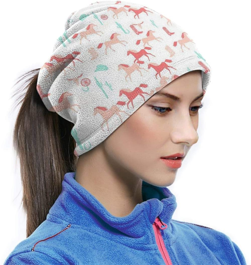 Horses Cactus Cowgirl Neck Warmer Scarf Neck Gaiter Tube For Men And Women Ear Warmer Headband Face Bandana Mask /& Beanie For Cold Weather Winter Outdoor Sports