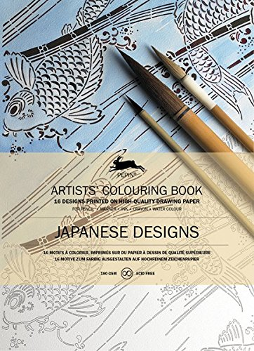 Pepin Press Pepin Press Japanese Designs : ARTISTS'COLOURING BOOK (98055)