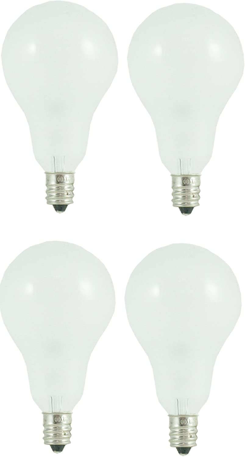 60 Watt A15 Candelabra Base Incandescent Bulb, Frosted (4 Pack)