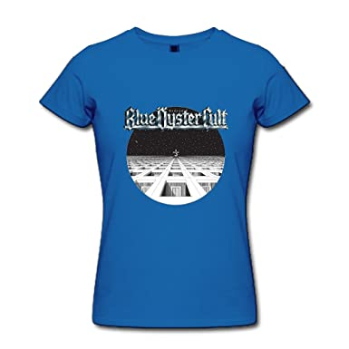 women s t shirt cool blue oyster cult boc band poster black sizem at